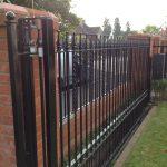 Sliding gate and railings